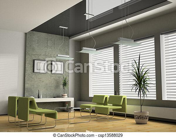 Interior office for negotiations 3D rendering - csp13588029
