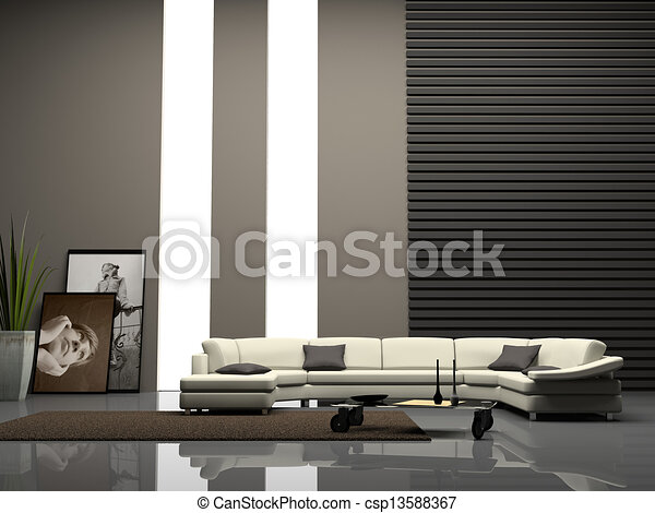 Stock illustratie van interieur thuis 3d vertolking for Interieur 3d