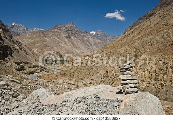 ヒマラヤ山脈 - csp13588927 ヒマラヤ山脈, 山, 中に, 夏, 時間カンプを保存