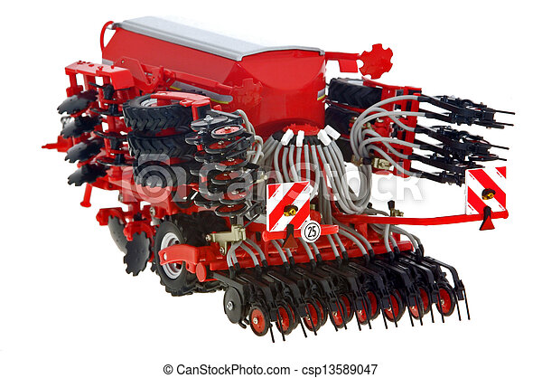agriculture with drill Sowing the Seed - csp13589047