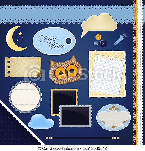 Scrapbooking Set: Night Time - csp13589542