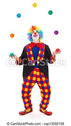 Images de jongleur clown lancement color balles - Image jongleur cirque ...