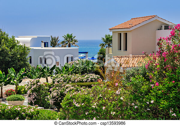 Luxurious holiday beach villas - csp13593986