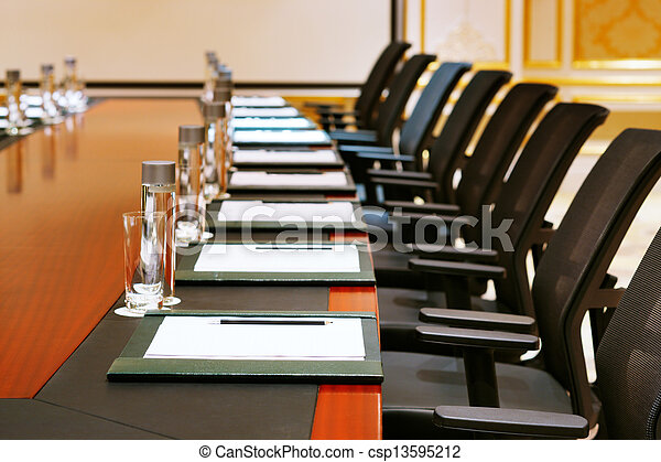 A detail shot of a meeting room - csp13595212