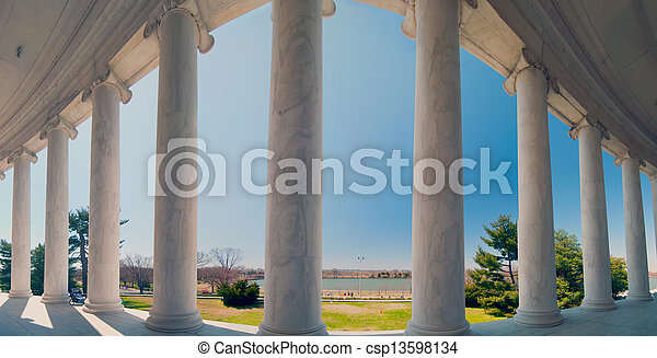 neoclassical ionic architectural details - csp13598134