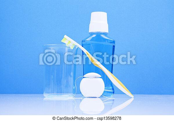 dental hygiene concept - csp13598278