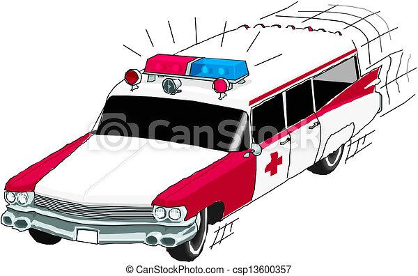 Ambulance Car Drawing Ambulance Car Csp13600357