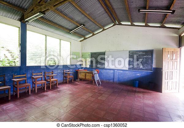 school room rural nicaragua - csp1360052