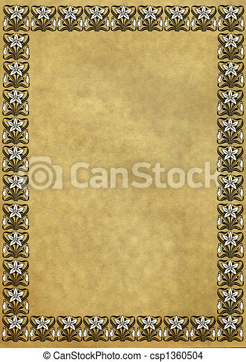 Old turned yellow paper - csp1360504