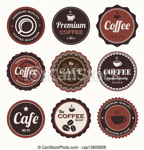 Vintage Coffee Logo Vector Vintage Coffee Badges