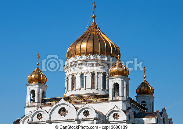 Cathedral of Christ the Savior. Moscow. landmark - csp13606139