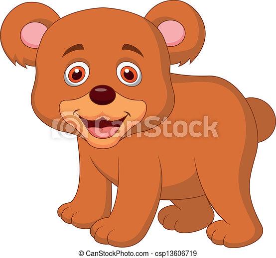 Vector Clip Art de lindo, bebé, oso, caricatura - vector ...