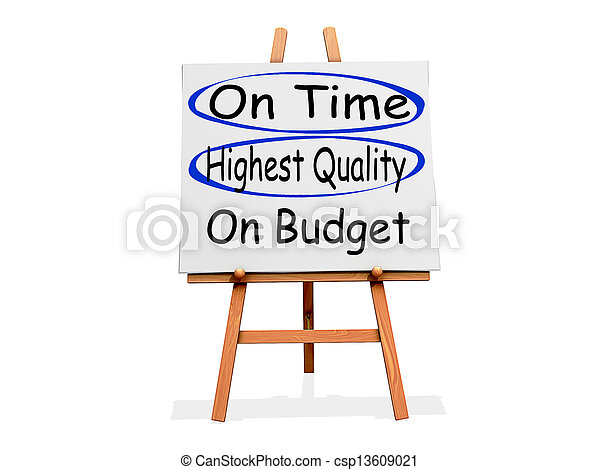 Art Easel Pick 2 On Time and Highest Quality not On Budget - csp13609021
