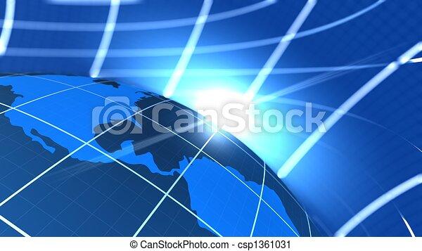 Global communication end World Illustration  - csp1361031