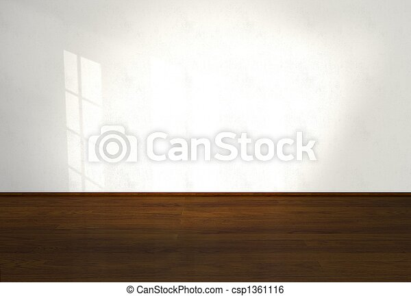 Empty interior, interior, living room - csp1361116