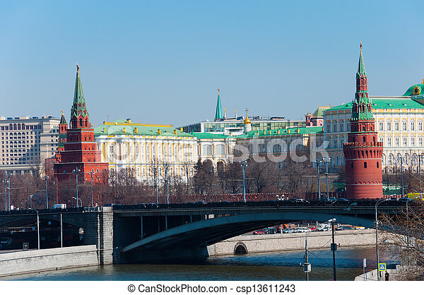 Kremlin in Moscow, Russia. landmark - csp13611243