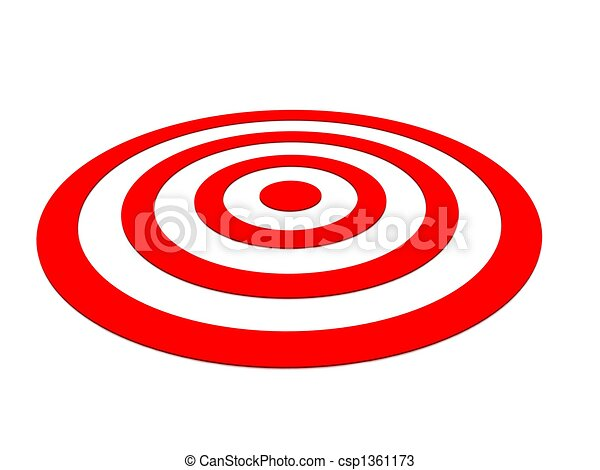 Row Red target with arrow on white  - csp1361173