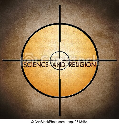 Science and religion target - csp13613484