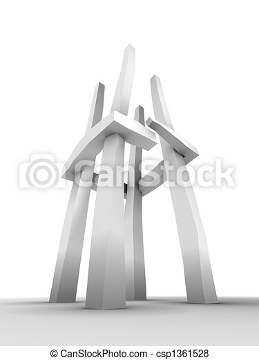 abstract tower sculpture - csp1361528