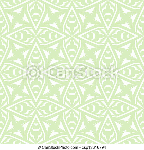 Geometric art deco vintage pattern in white - csp13616794