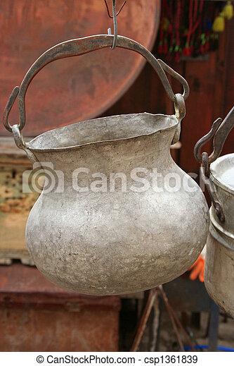 anticaglia, vaso, appendere - csp1361839