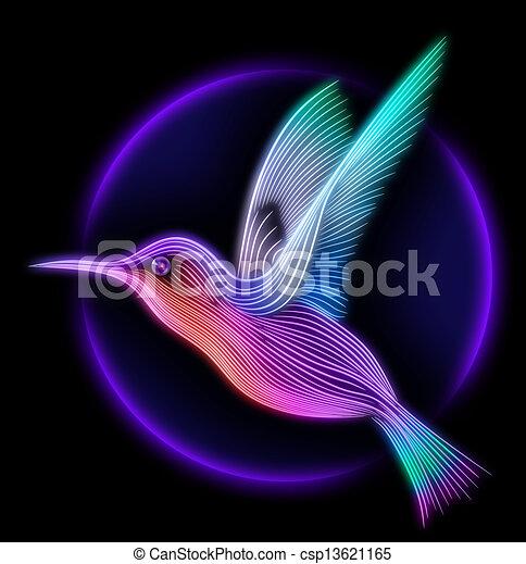 render, colibri, -, colibrí, pájaro, 3d - csp13621165