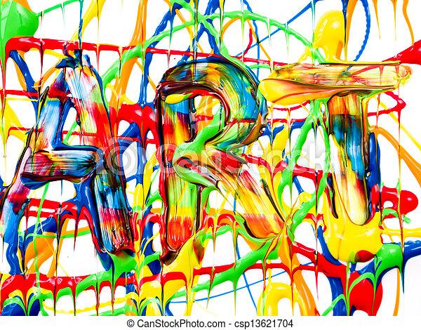 művészet, háttér - csp13621704