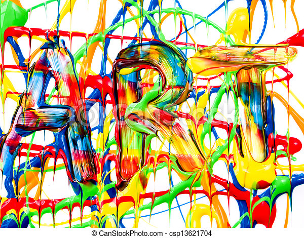 藝術, 背景 - csp13621704