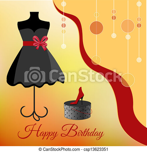 Birthday party invitation - csp13623351