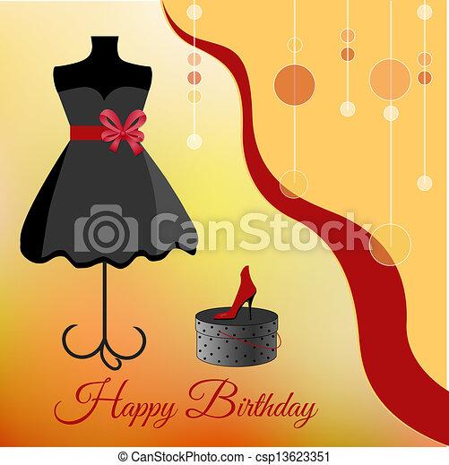 Birthday party invitation - csp13623351