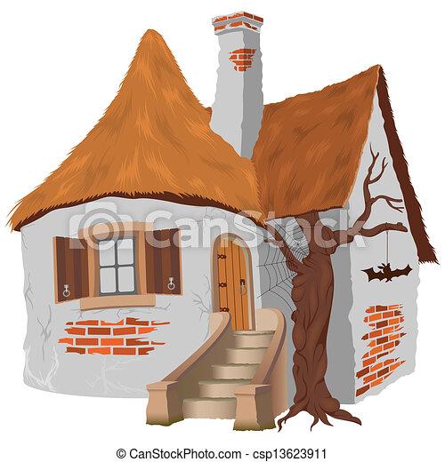 clip art vecteur de conte petite maison f e fairy tale cottage csp13623911. Black Bedroom Furniture Sets. Home Design Ideas