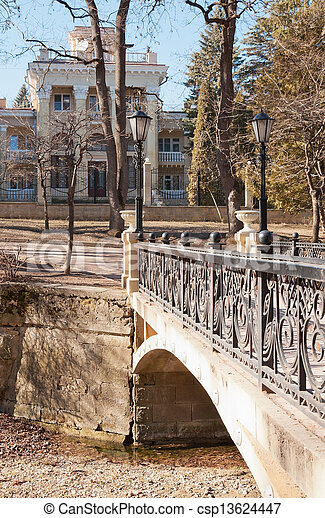 bridges, buildings, Kislovodsk - csp13624447