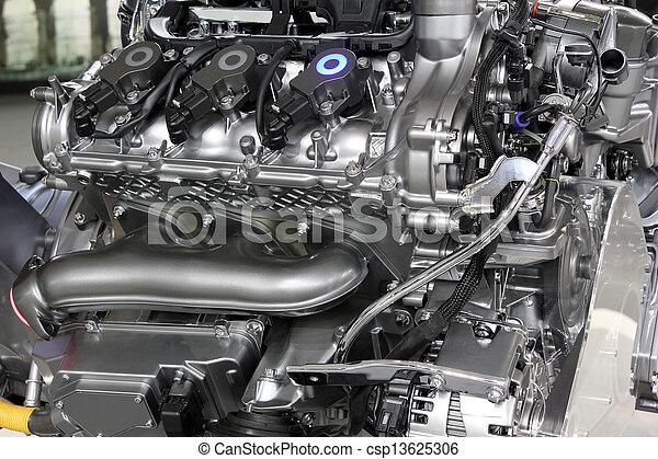 photographies de moteur voiture puissant v6 nouveau technologie csp13625306. Black Bedroom Furniture Sets. Home Design Ideas