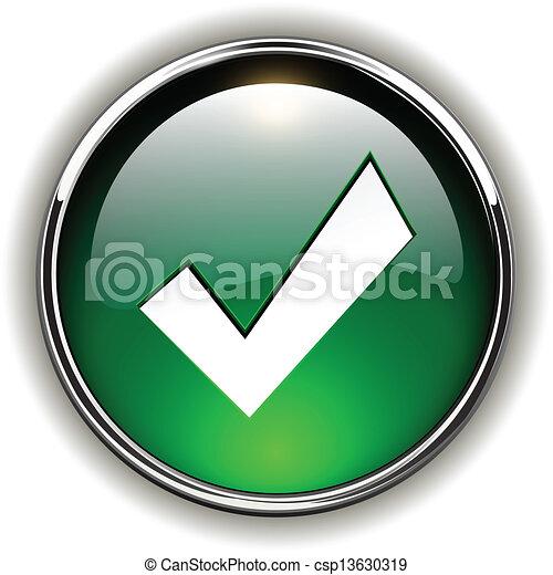 Vector clip art de icono bot n aceptar aceptar verde for Icono boton