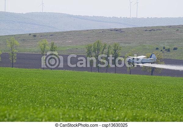 agriculture plane - csp13630325