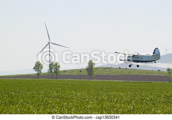agriculture plane - csp13630341