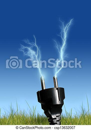 Energie, sauber - csp13632007