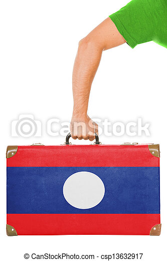 The Laotian flag - csp13632917