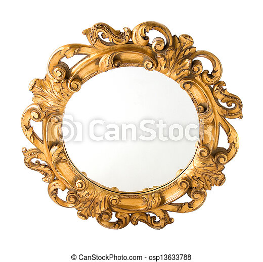 Pel culas de dorado pared madera tallado espejo for Marcos de madera para espejos redondos