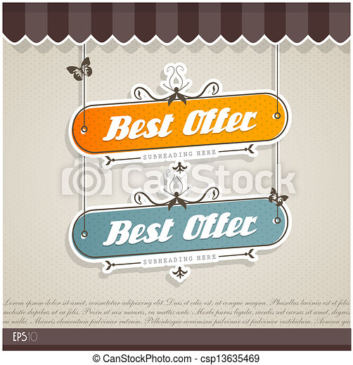 Vintage vector background with place for your text.  - csp13635469