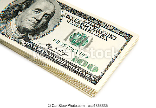 many american dollar bills - csp1363835