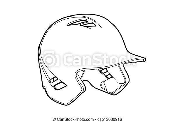 描述, basball, (outline, 钢盔, baseball)