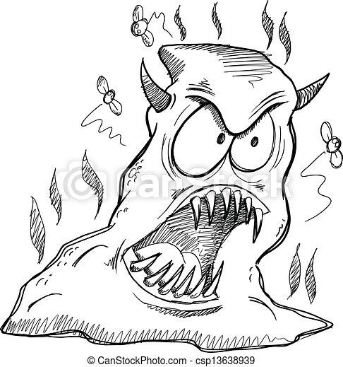 Vecteurs de poupe vecteur monstre croquis dessin monster poop csp13638939 - Dessins de monstres ...