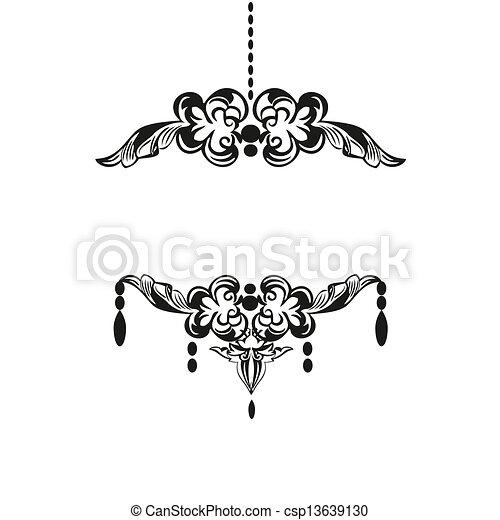 Chandelier Vector Clipart EPS Images 2828 Chandelier clip art – Chandelier Logo
