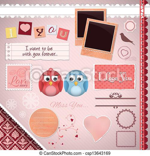 Scrapbooking Set: I love you - csp13643169
