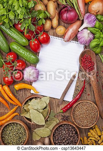 Assortment of fresh vegetables - csp13643447
