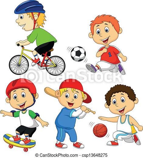 Fotos de niños realizando depórte - Imagui