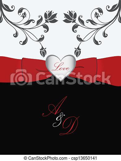 Valentine's Day card - csp13650141