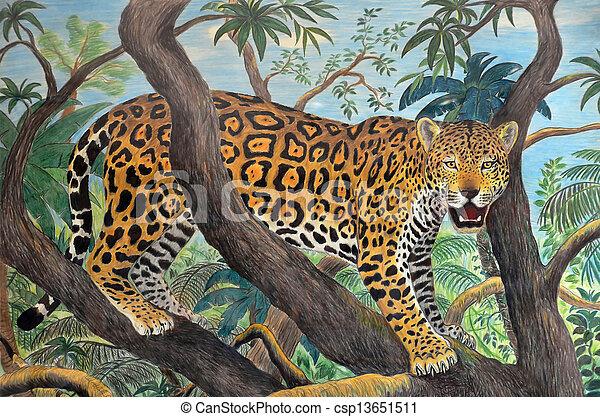 Photographies de jaguar jungle pastel dessin de - Jaguar dessin ...