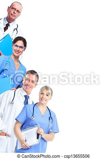 Group of medical doctor. - csp13655506